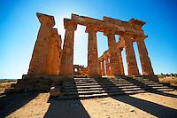 Greek Dorik Temple ruins of Temple F at Selinunte, Sicily
