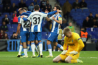 7th November 2019; RCDE Stadium, Barcelona, Catalonia, Spain; UEFA Europa League Football, Real Club Deportiu Espanyol de Barcelona versus PFC Ludogorets Razgrad;  Espanyol celebrate their goal - Editorial Use