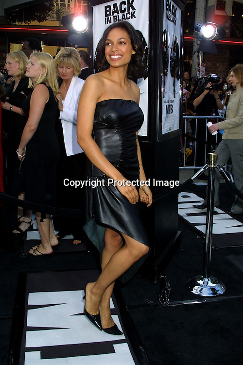 ©2002 KATHY HUTCHINS / HUTCHINS PHOTO.MEN IN BLACK II PREMIERE.WESTWOOD, CA  .6/26/02.ROSARIO DAWSON