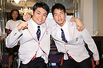 (L-R)<br /> Akira Toyoshima,<br /> Renshi Chokai (JPN),<br /> AUGUST 2, 2016 :<br /> Japan National Team Send-off Party<br /> for Rio Paralympic Games<br /> in Tokyo, Japan. (Photo by Shingo Ito/AFLO)