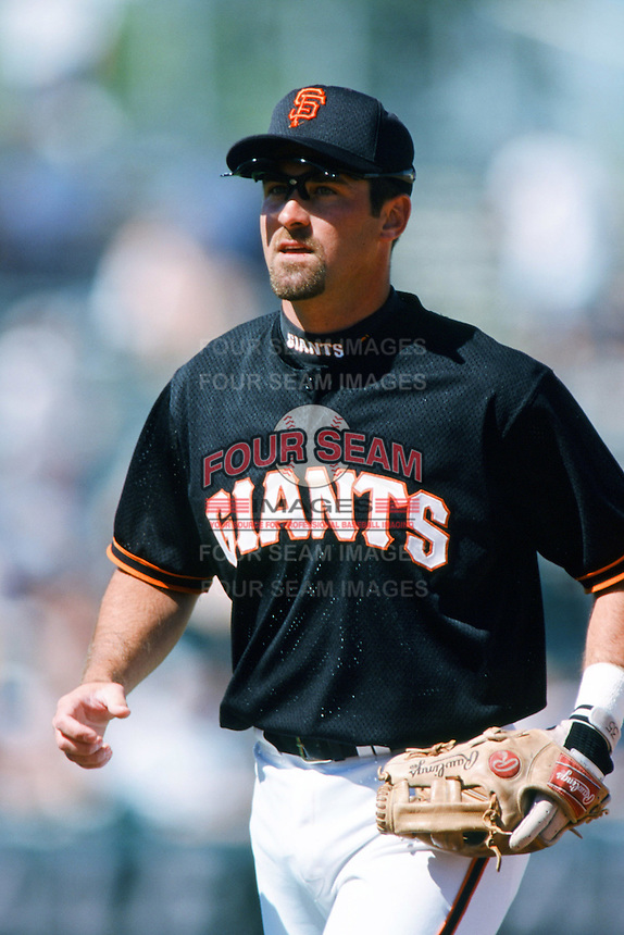 Rich Aurilia of the San Francisco Giants during a 1999 Major League Baseball Spring Training Game in Phoenix, Arizona. (Larry Goren/Four Seam Images)