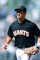 Rich Aurilia of the San Francisco Giants during a 1999 Major League Baseball Spring Training Game in Phoenix, Arizona. (Larry Goren/Four Seam Images)