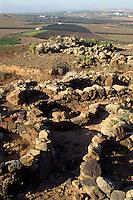Spanien, Kanarische Inseln, Lanzarote, altkanarische Ausgrabungen in Zonzamas
