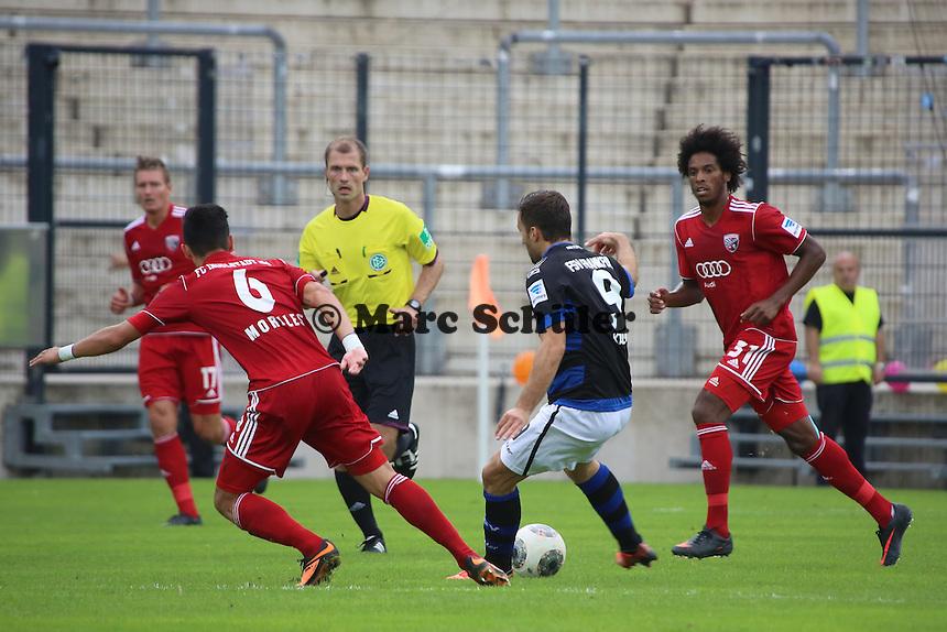 Edmond Kapllani (FSV) gegen Alfredo Morales (Ingolstadt) - FSV Frankfurt vs. FC Ingolstadt, 8. Spieltag, Frankfurter Volksbank Stadion