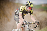 Robert Stannard (AUS/Mitchelton-Scott) on the white dust roads of Tuscany<br /> <br /> 13th Strade Bianche 2019 (1.UWT)<br /> One day race from Siena to Siena (184km)<br /> <br /> ©kramon