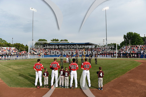 Batavia Muckdogs  during a game against the Brooklyn Cyclones on July 4, 2016 at Dwyer Stadium in Batavia, New York.  Brooklyn defeated Batavia 5-1.  (Mike Janes/Four Seam Images)