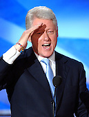 Boston, MA - July 26, 2004 -- Former United States President Bill Clinton speaks from the podium on the first night of the 2004 Democratic National Convention on Monday, July 26, 2004 in Boston, Massachusetts..Credit: Ron Sachs / CNP