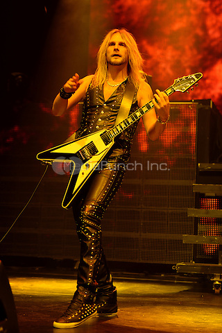 HOLLYWOOD FL - October 30 : Richie Faulkner of Judas Priest performs at Hard Rock Live held at the Seminole Hard Rock Hotel & Casino on October 30, 2014 in Hollywood, Florida. Credit: mpi04/MediaPunch