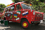 17 June 2006: The WM, or World Cup, Fan Bus makes an appearance in the Frankfurt town square before the game. Portugal played Iran at Commerzbank Arena in Frankfurt, Germany in match 24, a Group D first round game, of the 2006 FIFA World Cup.