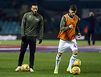 Leeds United's Lewis Baker (left) and Mateusz Klich during the pre-match warm-up <br /> <br /> Photographer Rich Linley/CameraSport<br /> <br /> The EFL Sky Bet Championship - Leeds United v Reading - Tuesday 27th November 2018 - Elland Road - Leeds<br /> <br /> World Copyright &copy; 2018 CameraSport. All rights reserved. 43 Linden Ave. Countesthorpe. Leicester. England. LE8 5PG - Tel: +44 (0) 116 277 4147 - admin@camerasport.com - www.camerasport.com