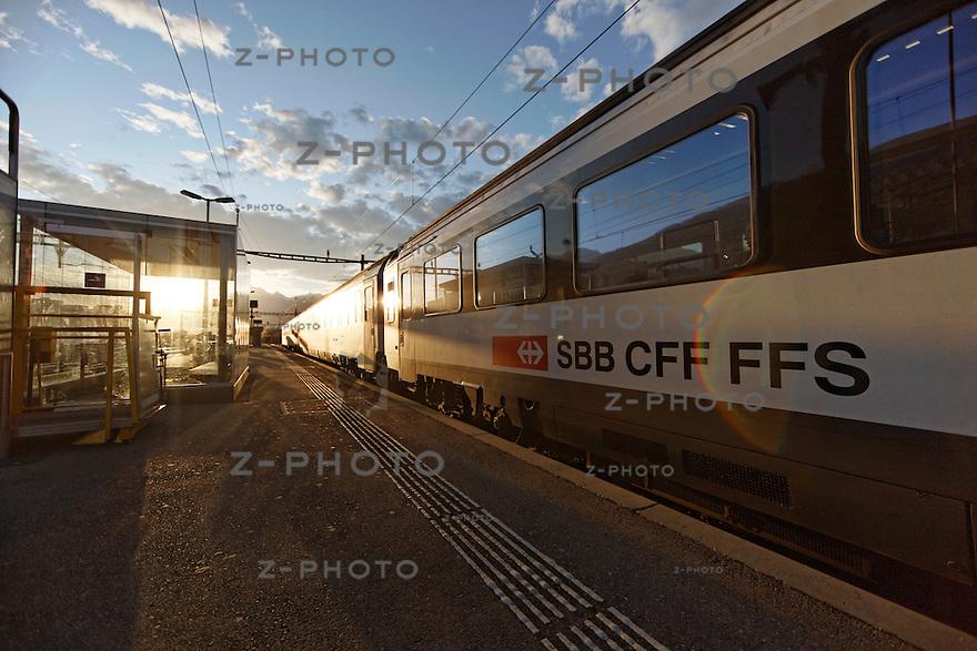 Geschaefte Bahnhof Sion am 25. Oktober 2011<br /> Mehr Bahnhof fuer SBB Immobilien<br /> <br /> Copyright &copy; Zvonimir Pisonic / SBB CFF FFS