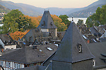 Town along the Rhine River Valley, France