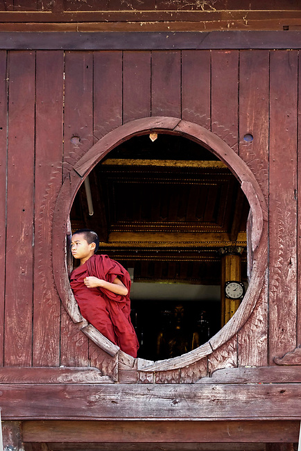 Young monk at monestary near Inle Lake
