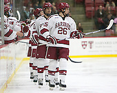 Jacob Olson (Harvard - 26) -  - The Harvard University Crimson defeated the visiting Colgate University Raiders 7-4 (EN) on Saturday, February 20, 2016, at Bright-Landry Hockey Center in Boston, Massachusetts.