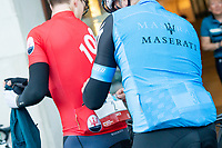 Picture by Allan McKenzie/SWpix.com - 06/05/2018 - Cycling - Maserati Human Race Sportive, Leeds, England - Riders prepare to race.