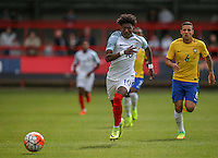 Ainsley Maitland-Niles (Arsenal) of England chases down the ball during the International match between England U20 and Brazil U20 at the Aggborough Stadium, Kidderminster, England on 4 September 2016. Photo by Andy Rowland / PRiME Media Images.
