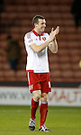 On his 200th appearance for the club Neill Collins of Sheffield Utd applauds the fans - FA Cup Second round - Sheffield Utd vs Oldham Athletic - Bramall Lane Stadium - Sheffield - England - 5th December 2015 - Picture Simon Bellis/Sportimage