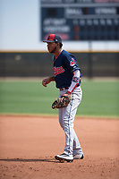 Cleveland Indians first baseman Henderson De Oleo (30) during an Extended Spring Training game against the Arizona Diamondbacks at the Cleveland Indians Training Complex on May 27, 2018 in Goodyear, Arizona. (Zachary Lucy/Four Seam Images)
