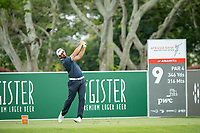 Matthieu Pavon (FRA) on the 9th tee during the 3rd round of the AfrAsia Bank Mauritius Open, Four Seasons Golf Club Mauritius at Anahita, Beau Champ, Mauritius. 01/12/2018<br /> Picture: Golffile | Mark Sampson<br /> <br /> <br /> All photo usage must carry mandatory copyright credit (© Golffile | Mark Sampson)