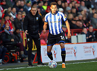 Jacob Murphy of Sheffield Wednesday on the ball with Garry Monk Manager of Sheffield Wednesday giving instructions during Charlton Athletic vs Sheffield Wednesday, Sky Bet EFL Championship Football at The Valley on 30th November 2019