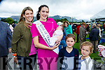 Rose of Tralee Jennifer Byrne with former Kerry fooballer daughter Susie and Family Mary Annie and Elizabeth Brosnan at the Killarney Races on Wednesday