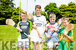 Enjoying the Finuge Hurling cul Camp on Tuesday were l-r  Josh Brosnan, Darragh McKenna Conway, Sean Sheehy and Ivan Conway