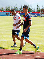 Marek Hamsik  lascia il campo in anticipo<br /> ritiro precampionato Napoli Calcio a  Dimaro 18 Luglio 2015<br /> <br /> Preseason summer training of Italy soccer team  SSC Napoli  in Dimaro Italy July 18, 2015