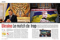 L'Express (main French news magazine).2012/06/16 - Iulia Tymochenko - European football Cup..Photos: Pierre Marsaut