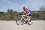 Matthieu Ladagnous (FRA) Groupama-FDJ on sector 8 Monte Santa Maria during Strade Bianche 2019 running 184km from Siena to Siena, held over the white gravel roads of Tuscany, Italy. 9th March 2019.<br /> Picture: Eoin Clarke | Cyclefile<br /> <br /> <br /> All photos usage must carry mandatory copyright credit (© Cyclefile | Eoin Clarke)