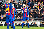 FC Barcelona's Javier Mascherano, Arda Turan  during Champions League match between Futbol Club Barcelona and VfL Borussia Mönchengladbach  at Camp Nou Stadium in Barcelona , Spain. December 06, 2016. (ALTERPHOTOS/Rodrigo Jimenez)