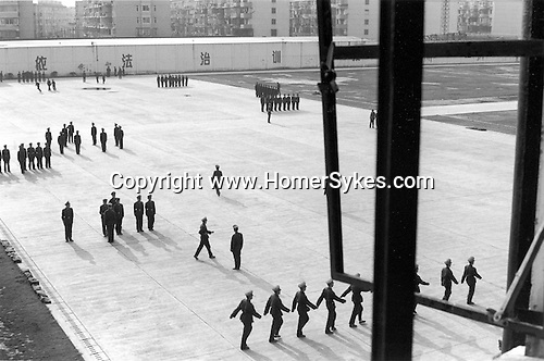 China, Shanghai.  The Military Police Commanders Academy in a northern suburb of Shanghai...