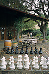 Outdoor chess set at Zaca Mesa Winery, along Foxen Canyon Road, Santa Barbara County, California
