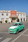 Usine Irga construite en 1961 pendant la derniere periode italienne.par Carlo Mazetti. De nombreuses voitures Fiat 500 circulent encore dans les rues d Asmara...Irga Factory built in 1961, during the late italian period by Carlo Mazetti . The small Fiat 500 cars are still visible int he streets od Asmara