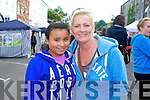 Pictured queuing for the Union J concert at Denny Street on Friday were: Aricyda Hillard and Jill Finucane (Listowel).