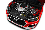 Car stock 2018 Audi RS5 4WD 2 Door Coupe engine high angle detail view