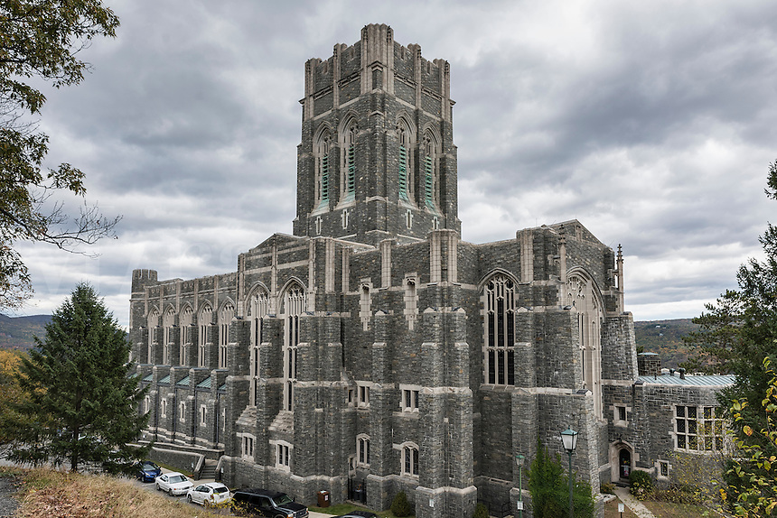 The Cadet Chapel, West Point Military Academy campus, New York, USA