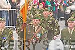 Tommy Martin Castleisland Carrimg the tricolour at the Killarney St Patricks parade on Thursday