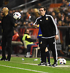 Valencia's coach Gary Neville  during Spain King Cup match. December 16, 2015. (ALTERPHOTOS/Javier Comos)