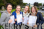 Presentation Tralee Leaving Cert students who collected their results on Wednesday Eimear Casey, Ciara Ryan, Emily O'Brien and Carly Holden all from Tralee.