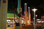 Restaurants at night in Oceanside