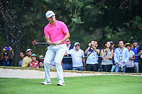 Jon Rahm (ESP) reacts to barely missing a birdie putt on 7  during round 3 of the World Golf Championships, Mexico, Club De Golf Chapultepec, Mexico City, Mexico. 3/4/2017.<br /> Picture: Golffile | Ken Murray<br /> <br /> <br /> All photo usage must carry mandatory copyright credit (&copy; Golffile | Ken Murray)
