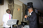 """DJ and Master of Ceremony Sharif Atkins (White  Coller """"Agent Jones"""", ER """"Michael Gallant"""", The Good Wife and more) as Alpha Kappa Alpha Sorority, Incorporated Pi Psi Omega Chapter welcomes you to """"A Pink Carpet Affair"""" - celebrating 25 years of Sisterhood and Service on June 9, 2012 at the Comfort Inn and Suites, Nanuet, New York.  (Photo by Sue Coflin/Max Photos)"""