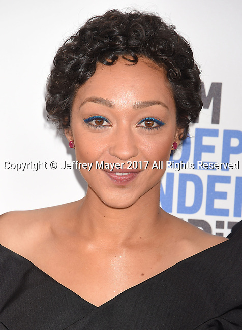 SANTA MONICA, CA - FEBRUARY 25: Actress Ruth Negga attends the 2017 Film Independent Spirit Awards at the Santa Monica Pier on February 25, 2017 in Santa Monica, California.