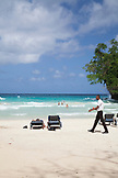 JAMAICA, Port Antonio. The beach at the Frenchman's Cove Resort.