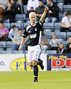 10/10/2009  Copyright  Pic : James Stewart.sct_jspa04_dundee_v_partick  . :: LEIGH GRIFFITHS CELEBRATES AFTER HE SCORES THE FIRST FOR DUNDEE  :: .James Stewart Photography 19 Carronlea Drive, Falkirk. FK2 8DN      Vat Reg No. 607 6932 25.Telephone      : +44 (0)1324 570291 .Mobile              : +44 (0)7721 416997.E-mail  :  jim@jspa.co.uk.If you require further information then contact Jim Stewart on any of the numbers above.........