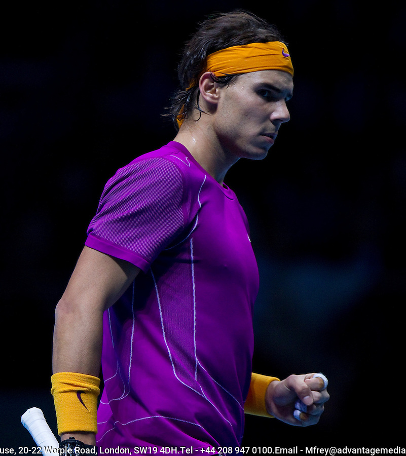 Rafael Nadal (ESP) (1) against Roger Federer (SUI) (2) in the final. Roger Federer beat Rafael Nadal 6-3 3-6 6-1..International Tennis - Barclays ATP World Tour Finals - O2 Arena - London - Day 8 - Sun 28 Nov 2010..© Frey - AMN Images, Level 1, Barry House, 20-22 Worple Road, London, SW19 4DH.Tel - +44 208 947 0100.Email - Mfrey@advantagemedianet.com.Web - www.amnimages.photshelter.com