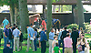 people in the paddock before The Kent Stakes (gr 3) at Delaware Park on 7/18/15