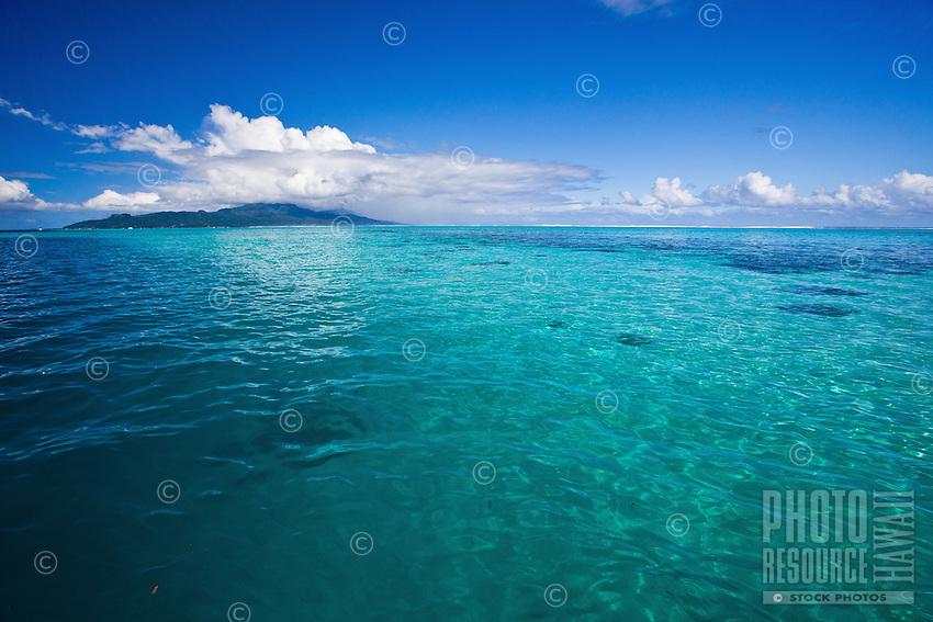 Raiatea Island lagoon seen from Tahaa Island