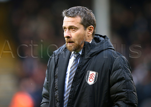 17th March 2018, Craven Cottage, London, England; EFL Championship football, Fulham versus Queens Park Rangers; Fulham Manager Slavisa Jokanovic looks on as he walks towards the dugout from the tunnel before kick off