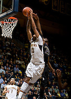 Allen Crabbe of California prepares to dunk the ball during the game against Washington at Haas Pavilion in Berkeley, California on January 9th, 2013.   Washington defeated California, 62-47.